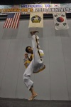 Photo of Grandmaster Choi Twisting kick