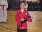 Young black belt student
