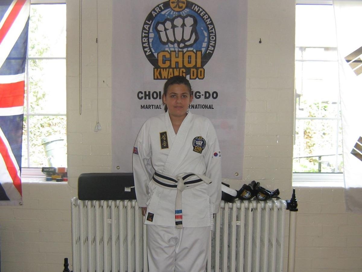 Student in white senior belt